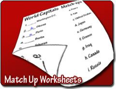 Create Matching worksheets/tests