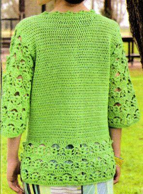 Crochet Designs Free: Beautiful pattern with crochet jacket on