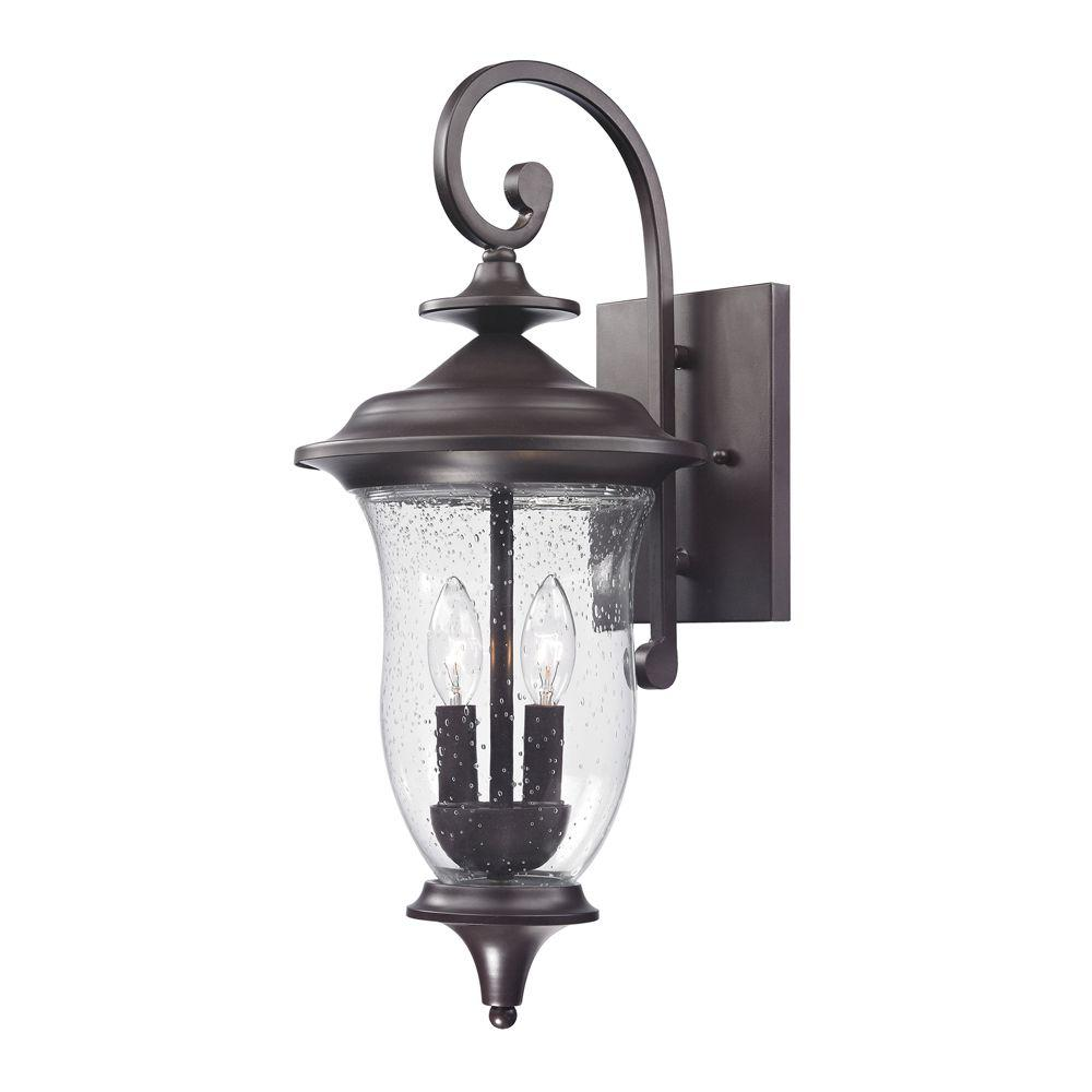 Titan Lighting Trinity 2 Light Outdoor Oil Rubbed Bronze Sconce Tn 50165 Outdoor Sconces Outdoor Wall Lantern Outdoor Wall Sconce