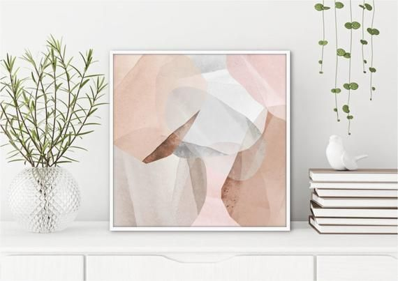 Neutral Wall Art Print Large Square Abstract Wall Print Etsy Neutral Wall Art Affordable Wall Art Square Wall Art