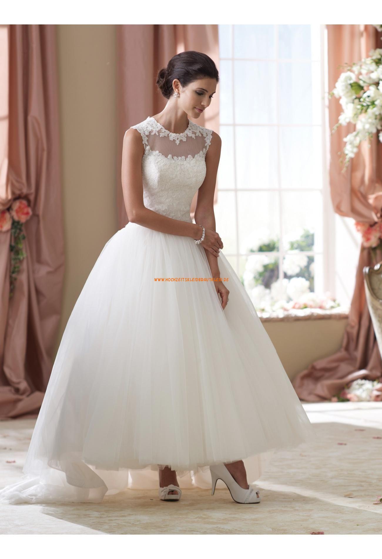 Schönes Brautkleid A-Linie 2013 aus Organza mit Applikation