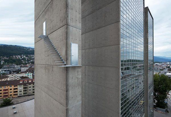 Terrifying Staircase On Exterior Wall of Skyscraper