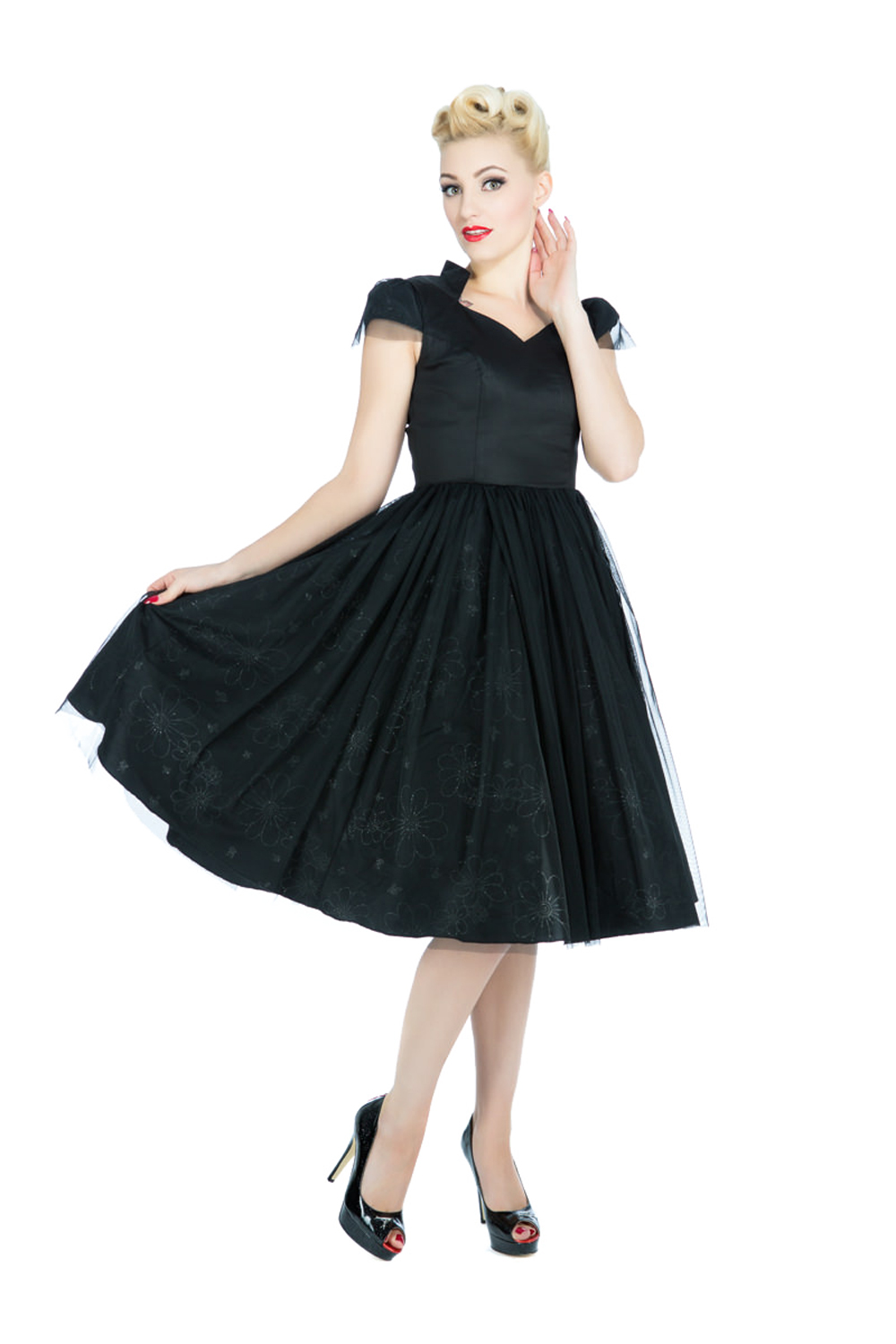 Hearts & Roses EVENING Prom Vintage Tulle SWING Kleid Dress