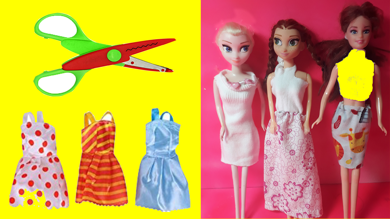 DIY Barbie Dresses, Barbie Clothes Making 👗 Dress Up, Doll