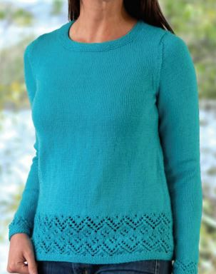 Placed Lace Pullover Free Knitting Pattern | Sweater patterns ...