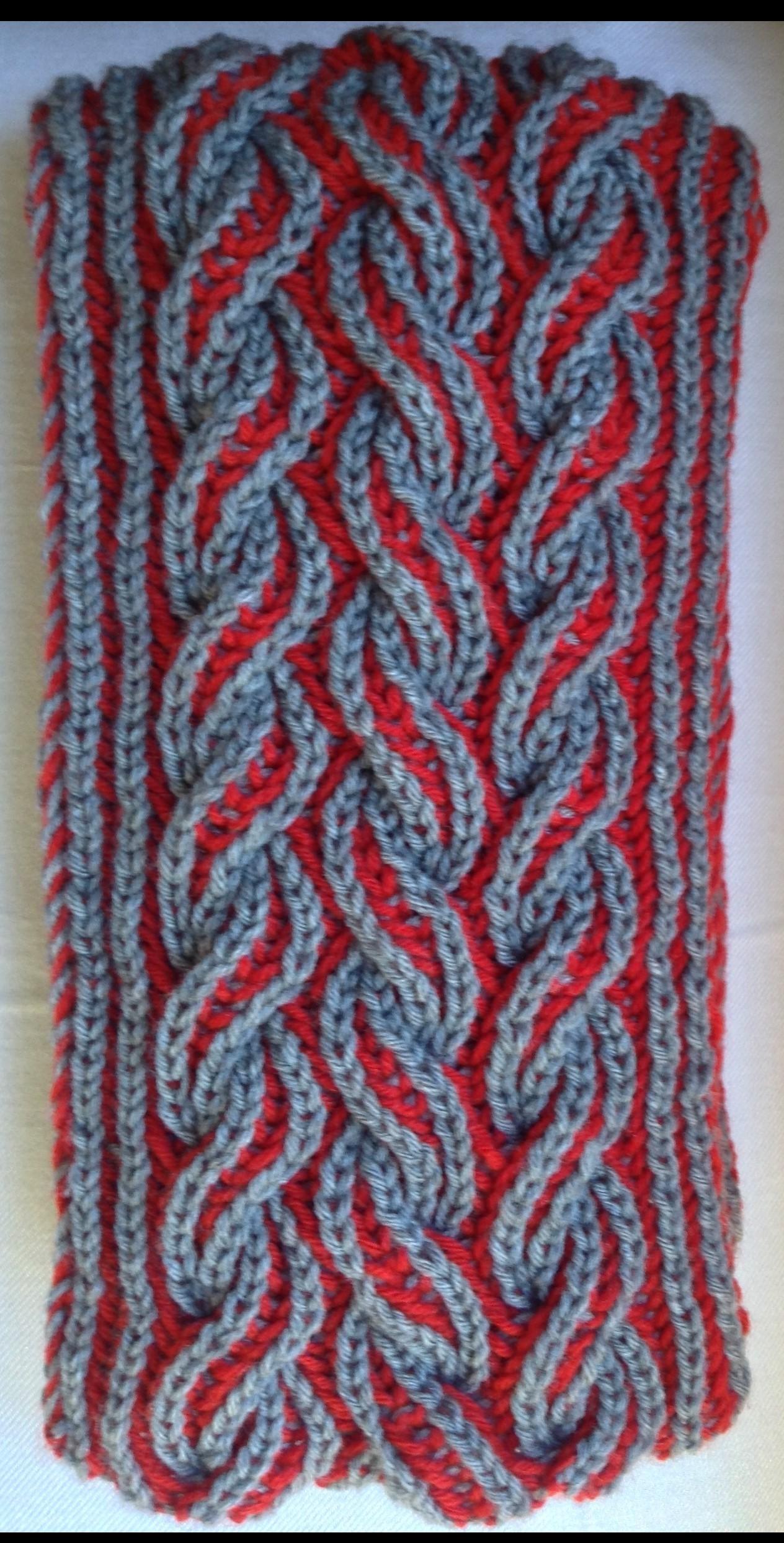 Brioche | Flaming scarf | Free pattern http://www.ravelry.com ...