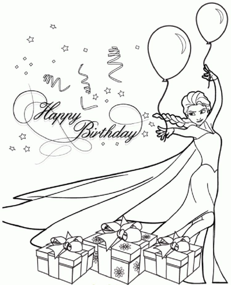 Frozen Birthday Party Coloring Pages Happy Birthday Coloring Pages Birthday Coloring Pages Elsa Coloring Pages