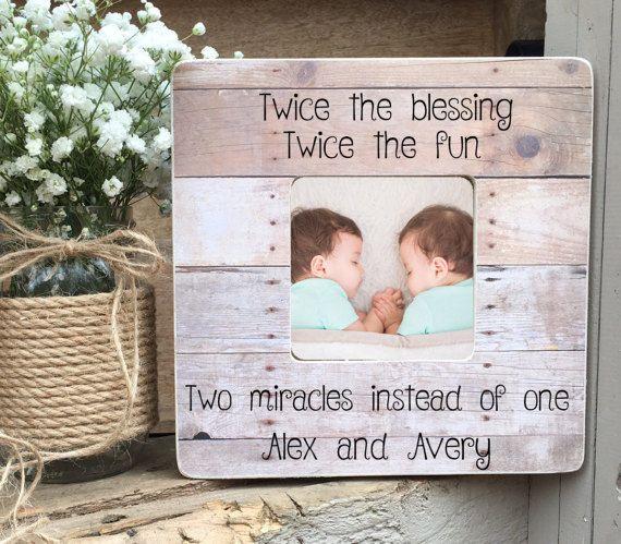 Twins Picture Frame Twin Gift Twin Girls Twin Boys Twin   Christmas ...