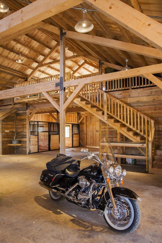"""chillypepperhothothot: """"  Ponderosa Country Barn Interior in Iowa by Sand Creek Post & Beam """""""