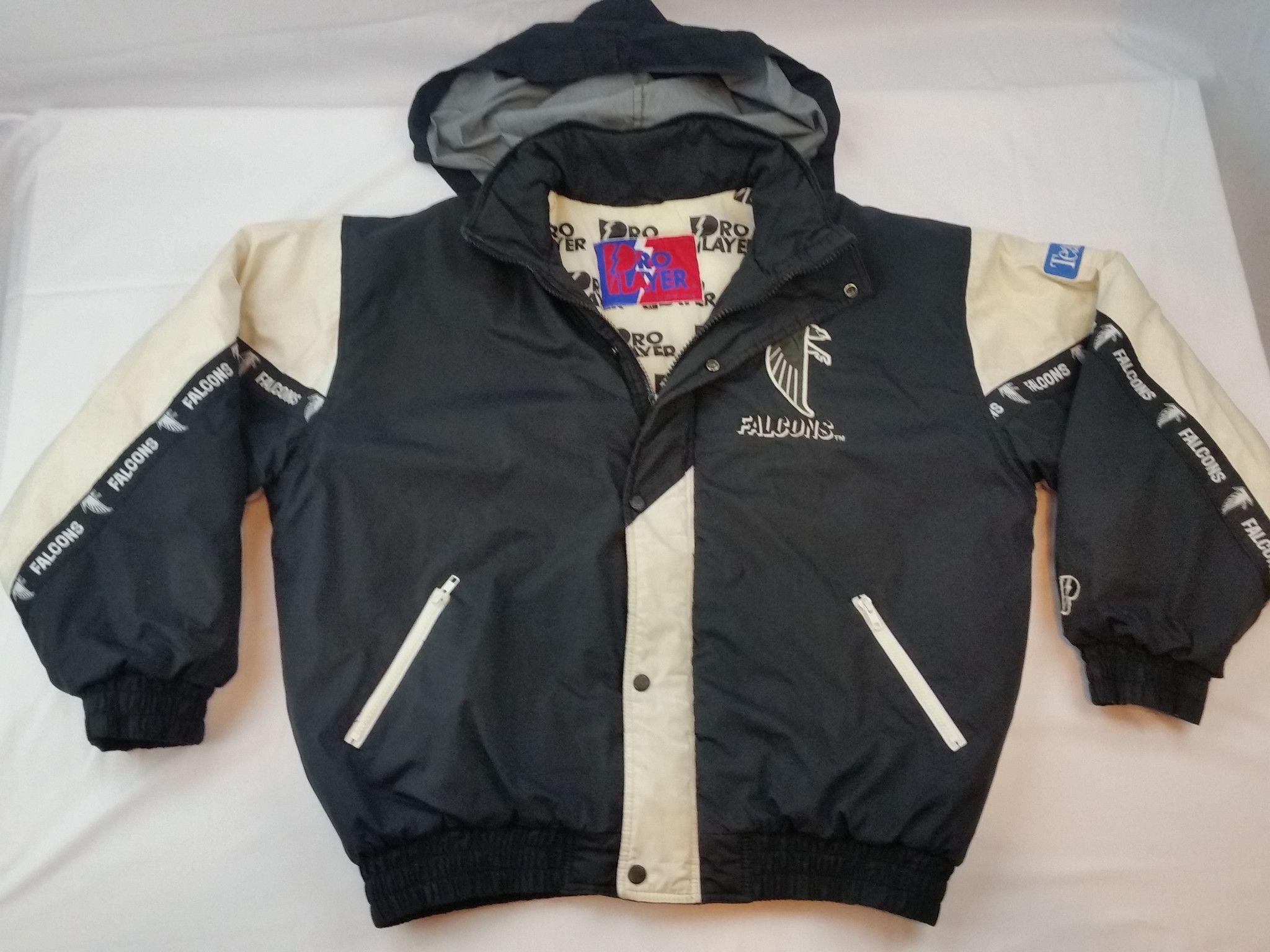 Atlanta Falcons Pro Player Jacket Vintage NFL Coat Parka Pullover ATL Mens XL