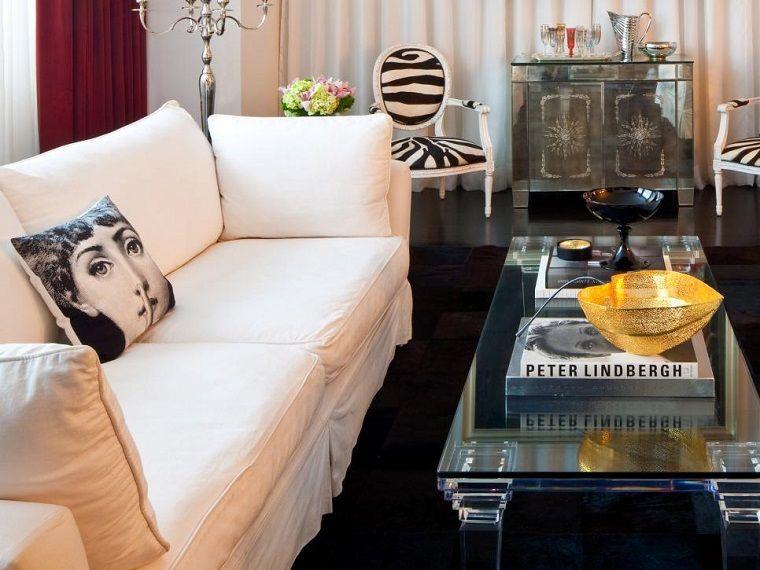 Schwarz Weiss 50 Ideen Fur Die Moderne Und Elegante Lounge Wohnideen Fur Inspiration Innenarchitektur Vintage Wohnzimmer Wohnzimmer Ideen
