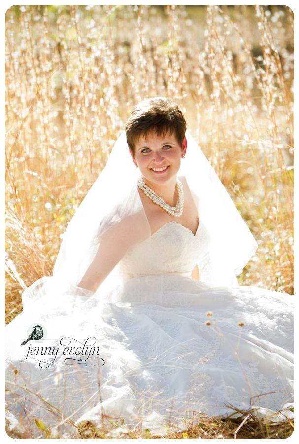 Full veil pixie bride