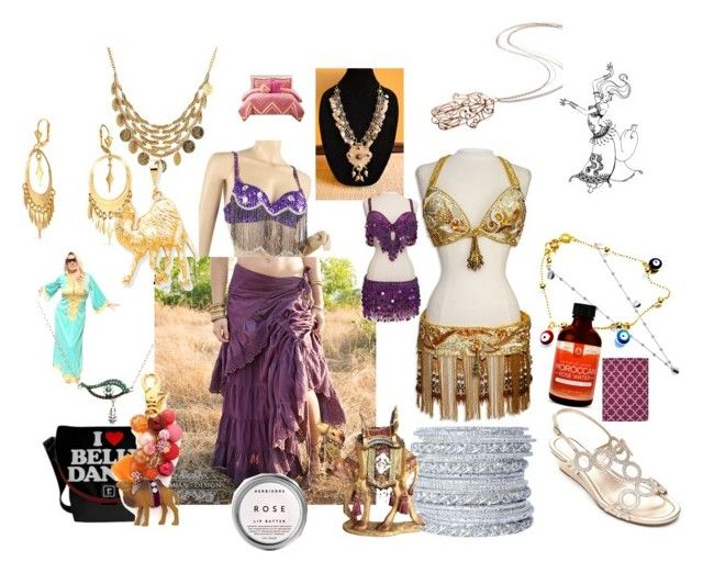 """A touch of Belly Dance Glamour"" by saffron-rose on Polyvore featuring Rina Limor, Chamak by Priya Kakkar, Bandolino, Bling Jewelry, Armadoro, Lenora Dame, Kevin Jewelers and Jaipur"