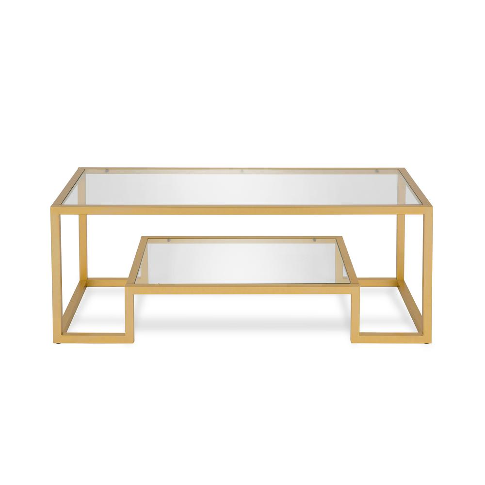 Meyer Cross Athena 45 In Brass Clear Large Rectangle Glass Coffee Table With Shelf Ct0066 The Home Depot In 2021 Glam Coffee Table Geometric Coffee Table Coffee Table With Shelf [ 1000 x 1000 Pixel ]