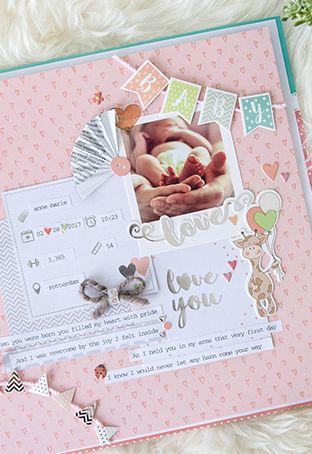 scrapbooking ideen fotoalbum kinder das babyalbum als scrapbook mit meilenstein karten f r die. Black Bedroom Furniture Sets. Home Design Ideas