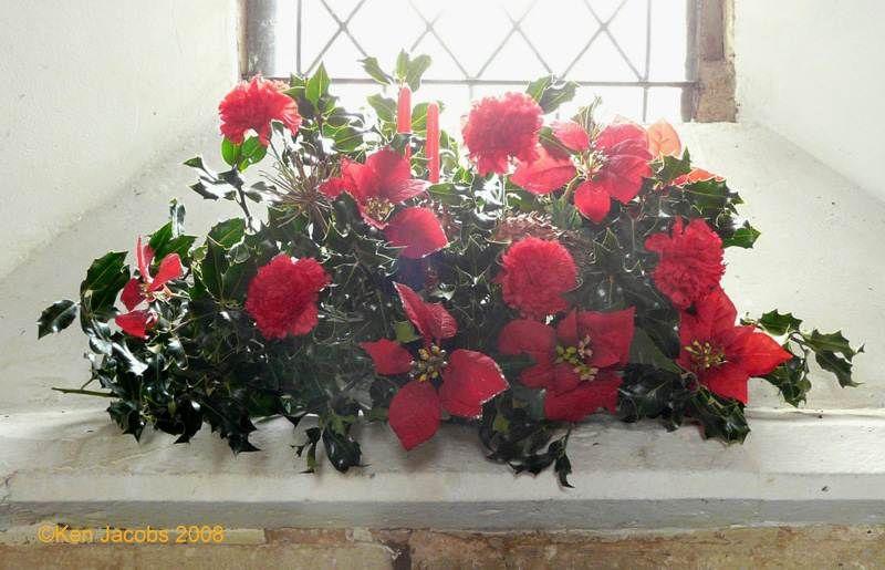Church Chapel Flower Arrangements Winteringham Fl Christmas 2008
