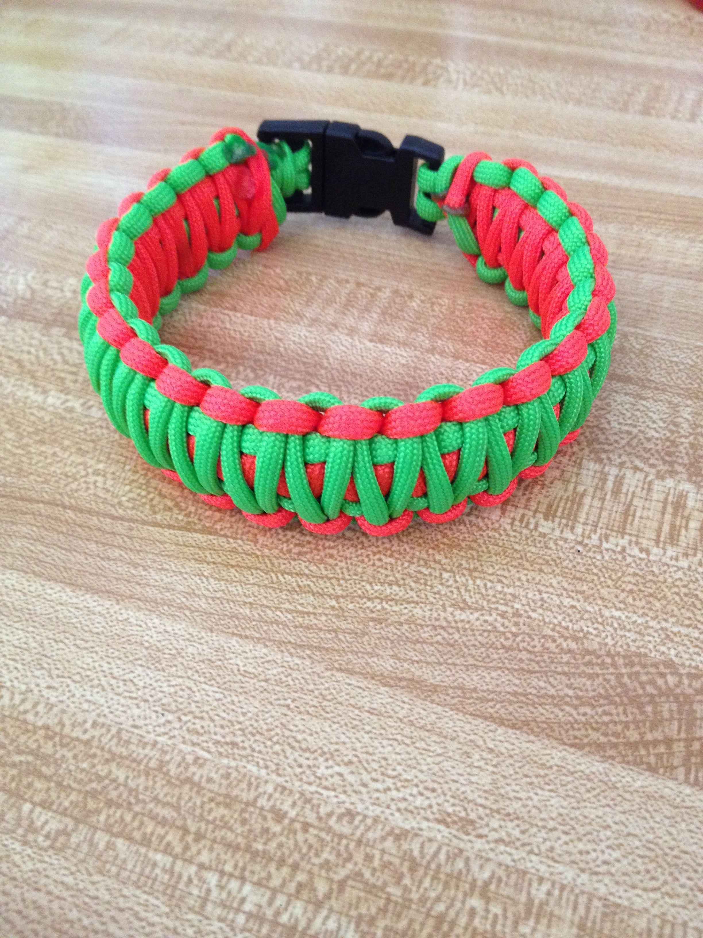 "king cobra bracelet Neon orange and Neon Green $6 anything over 9"" $7"