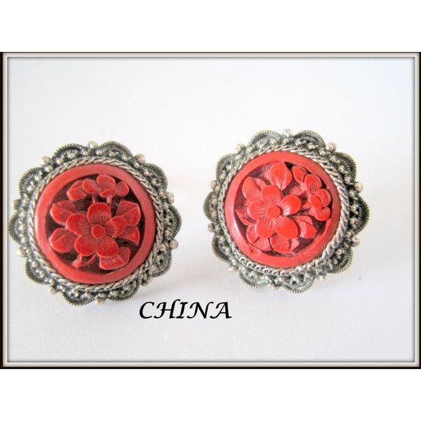 Antique China Silver Earrings ($55) ❤ liked on Polyvore featuring jewelry, earrings, antique jewellery, antique silver jewelry, antique earrings, silver earrings and silver jewellery