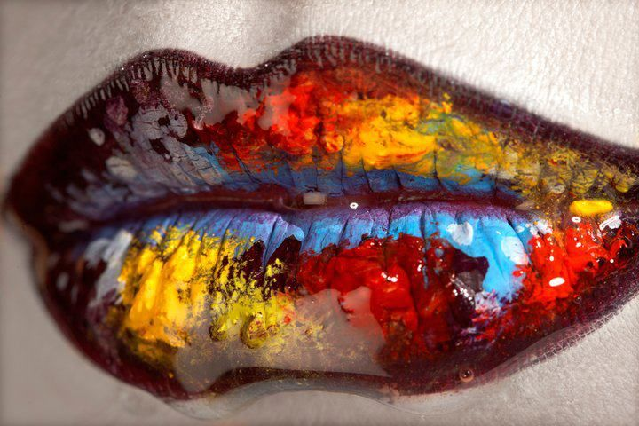 make-up artist: Einat Dan; painted lips #editorial