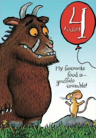 Happy 4th Birthday The Gruffalo Birthday Card From Woodmansterne