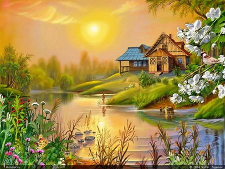 Most Beautiful Nature Paintings Google Search Scenery Pictures Beautiful Nature Nature Paintings