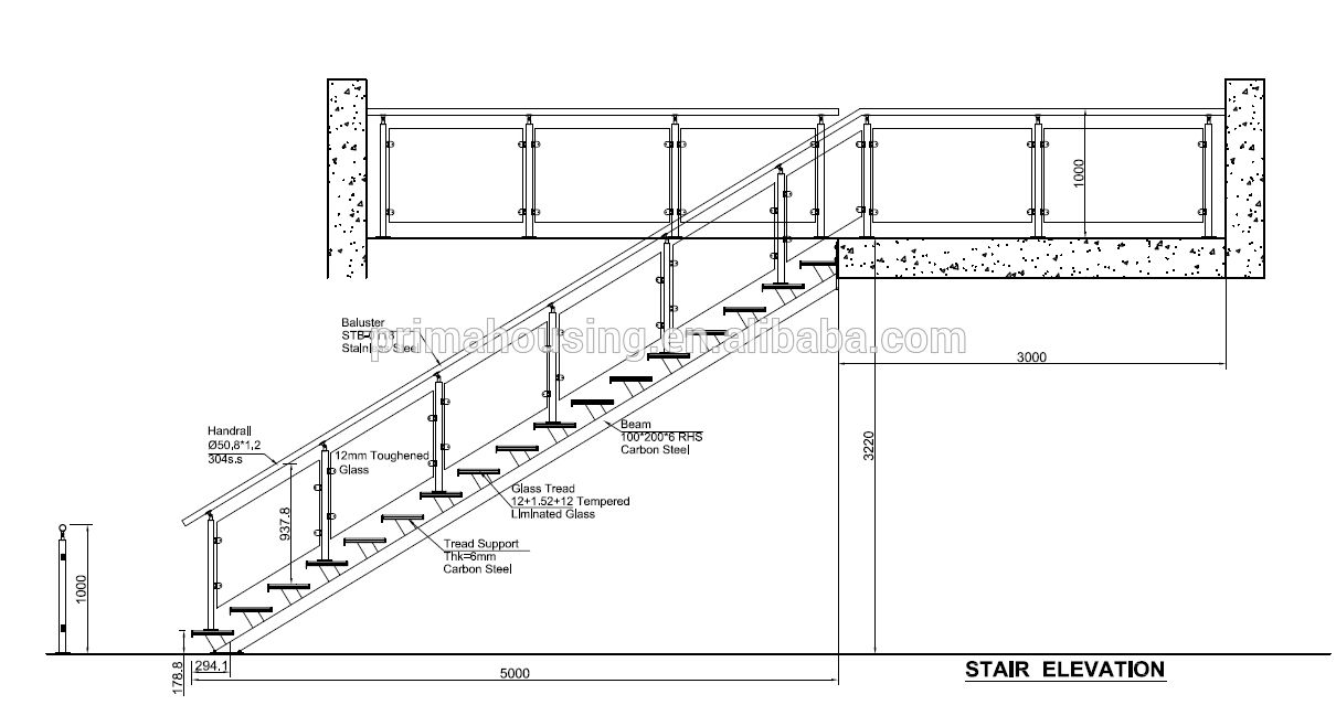 Best Stairs Staircase With Wooden Tread And Glass Side Railing 640 x 480