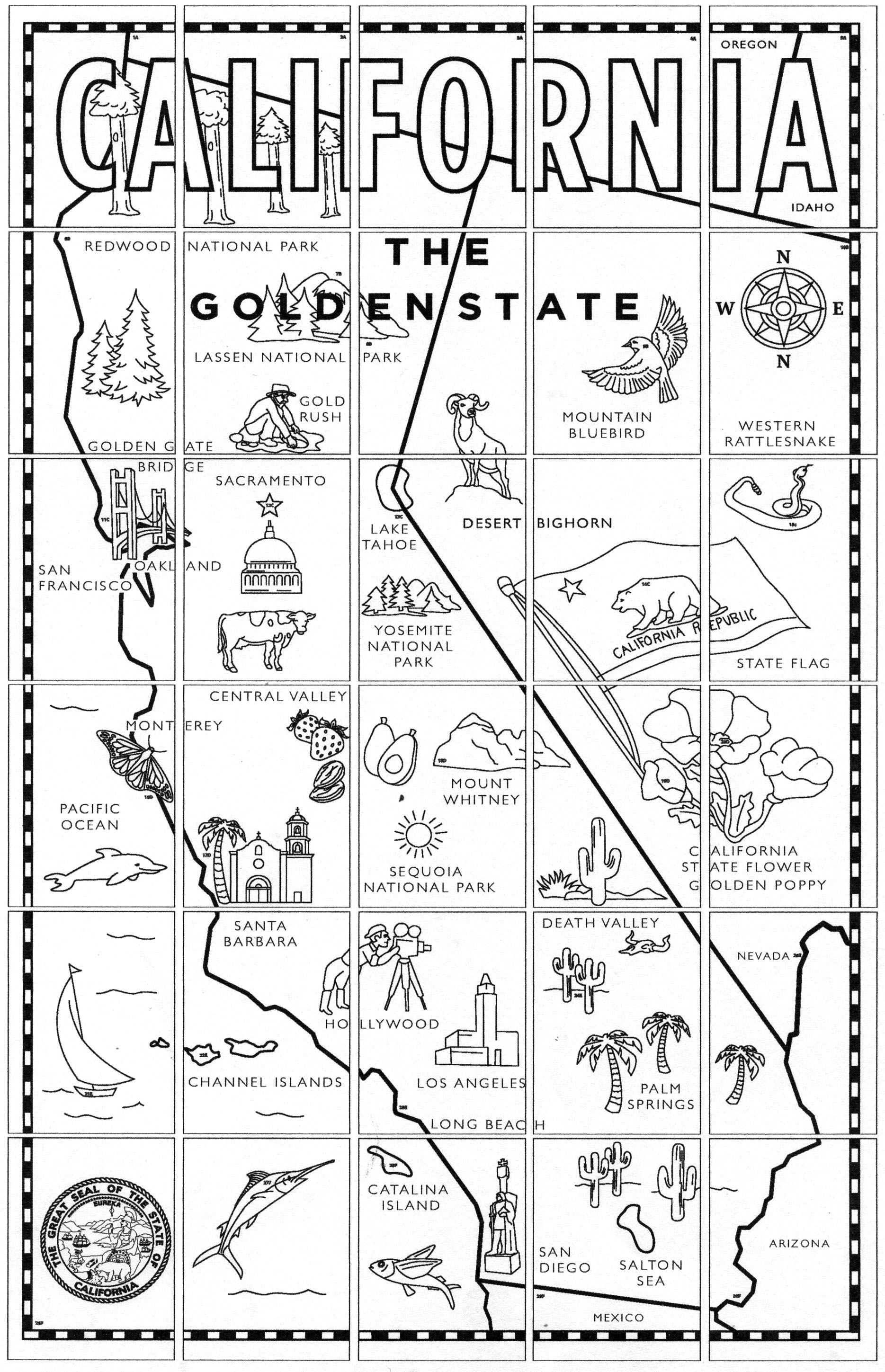 California Map Mural · Art Projects for Kids   California map [ 2898 x 1869 Pixel ]