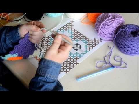 Part 2 Graphgan In C2c Crochet Tutorial English Youtube