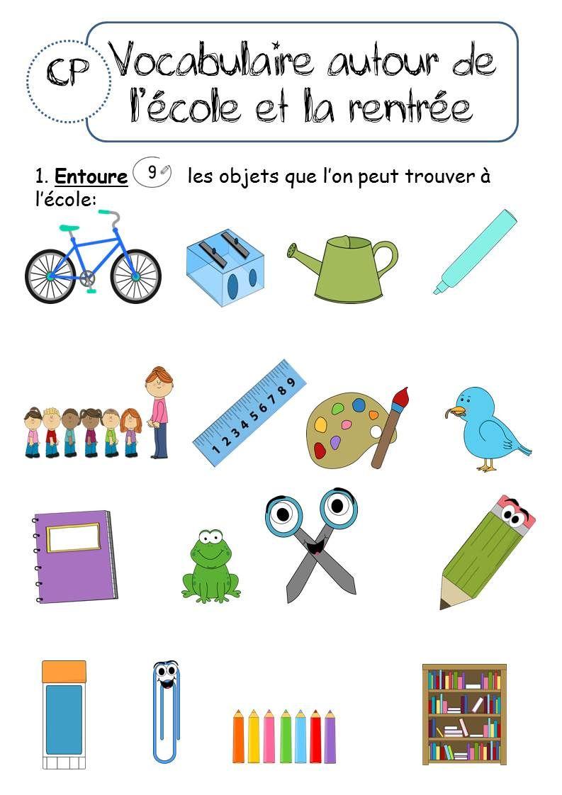 CP et CE1 - AUTOUR DE LA RENTREE | Teaching French - Enseigner le ...