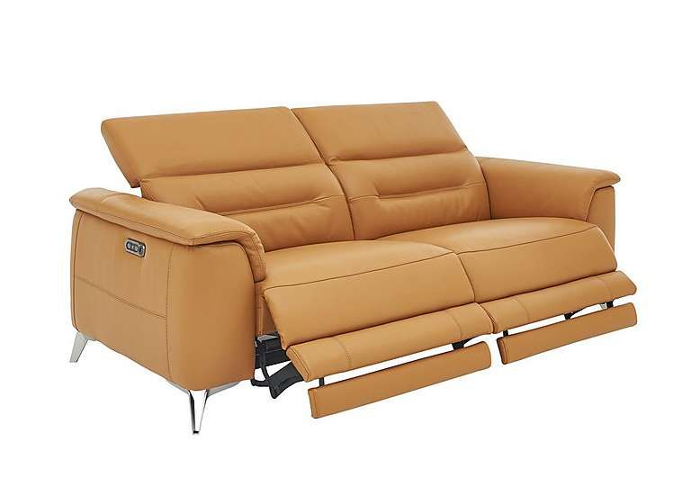 Sanza 3 Seater Recliner Leather Sofa