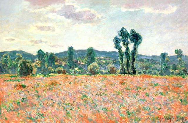 Claude Monet Feld Mit Mohnblumen Kunstdruck Leinwandbild Gerahmtes Bild Claude Monet Art Claude Monet French Impressionist Painters