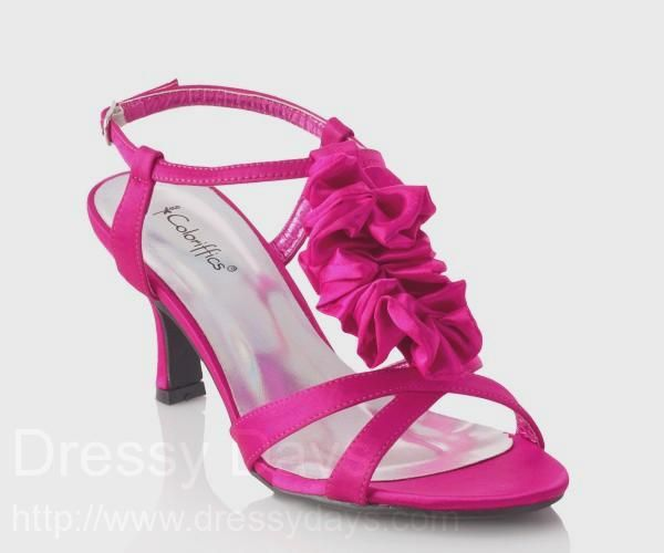 Gie Women S Dress Shoes And Bridesmaid In Fuschia Cs0241