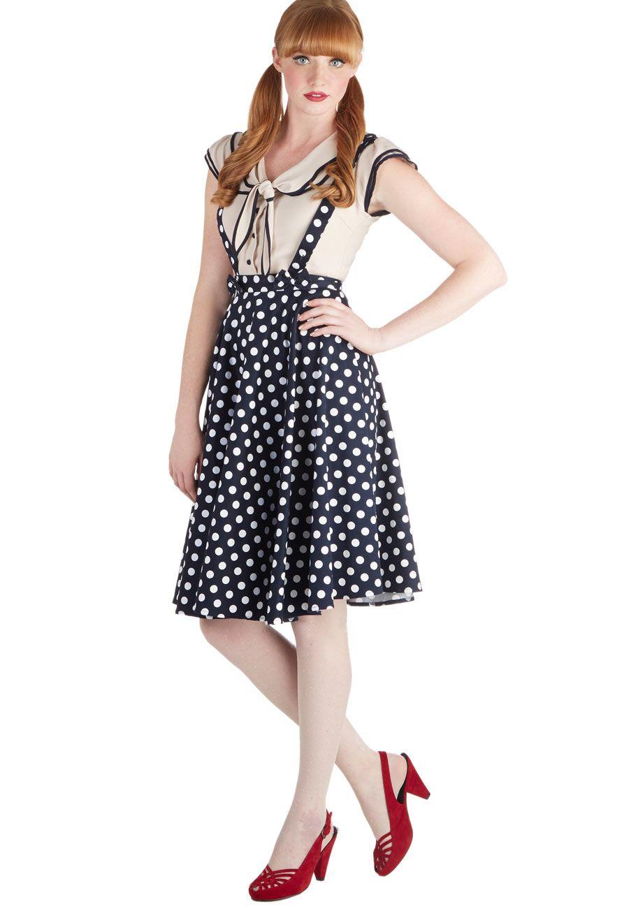 Resounding Thrill Skirt   Mod Retro Vintage Skirts   ModCloth.com