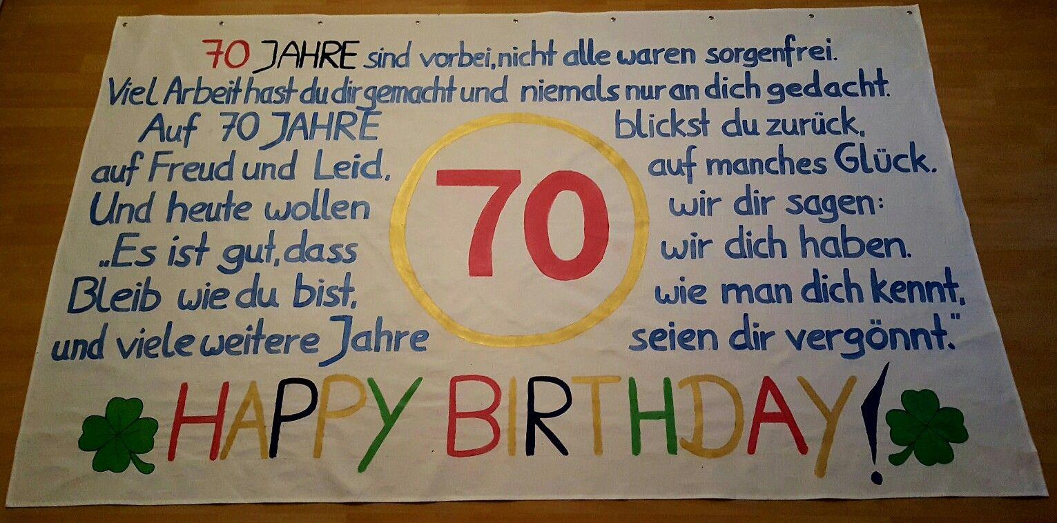 Leintuch 250m 150m Zum 70 Geburtstag Diy Jana Gestaltet Von