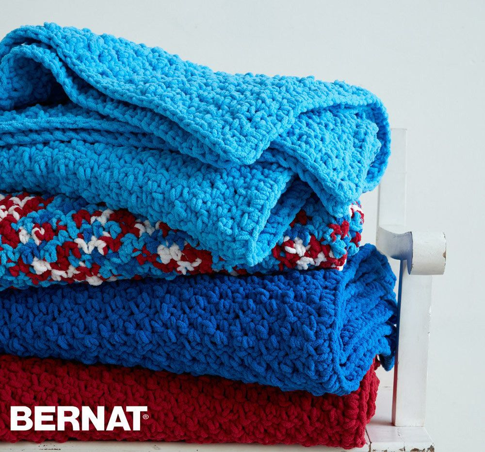 Pebble Stitch Throw in Bernat Blanket Brights. Discover more ...