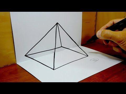 Pirámide 3d Ilusión óptica Youtube 3d Art Drawing Pyramids 3d Drawings