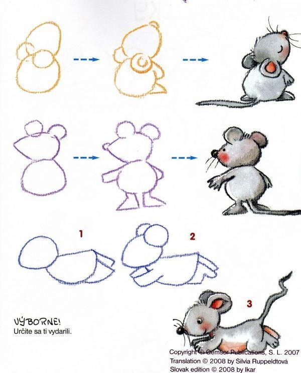 Apprendre dessiner une souris how to draw - Dessiner une souris ...