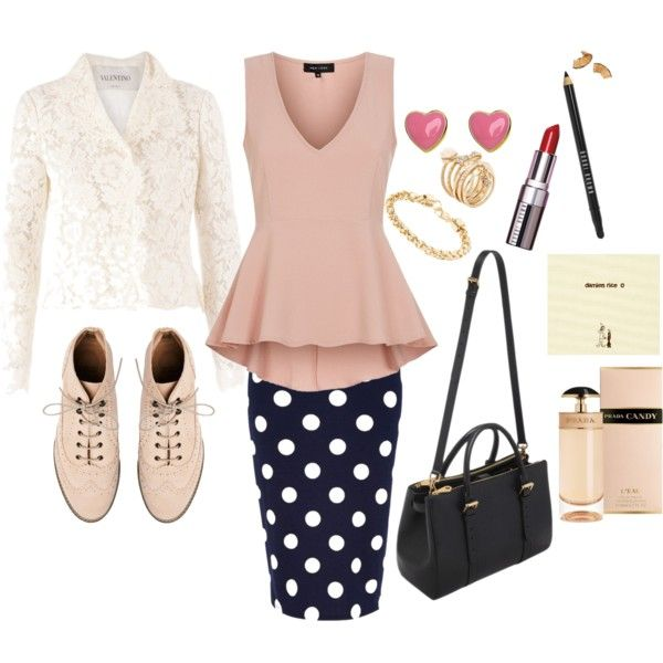 """""""Pinky Polka Lacy"""" by miss-reverie on Polyvore"""