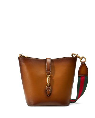V2F0U Gucci Jackie Soft Leather Ombre Bucket Bag, Brown   Fashion ...
