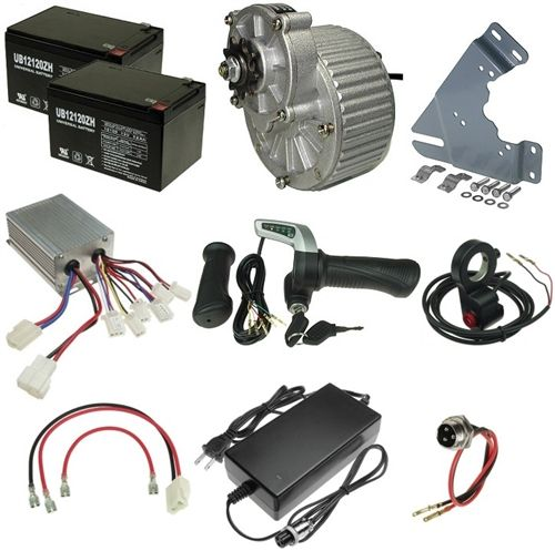 Recumbent Bike Electric Motor Kit: 24 Volt 450 Watt Gear Motor Electric Bicycle Power Kit