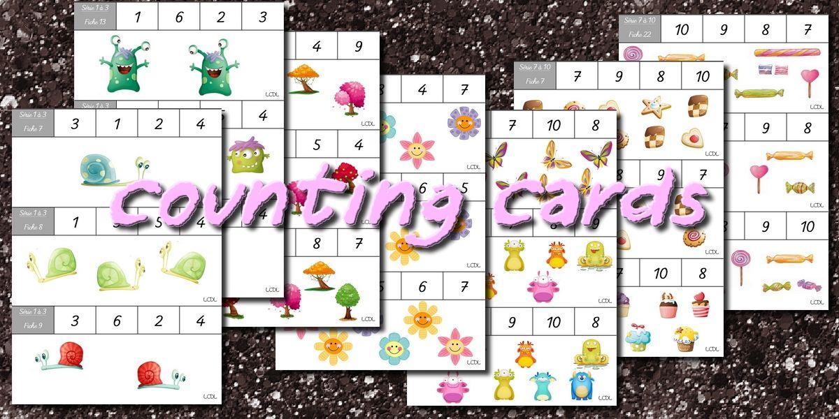la maternelle de laur 232 ne counting cards cartes 224 compter math 233 matiques nombres
