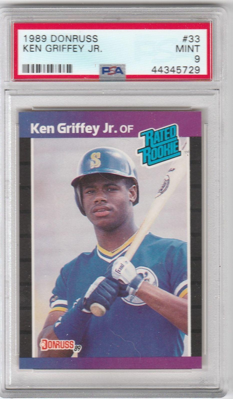 Psa 9 ken griffey jr rookie 1989 donruss mercari in 2020