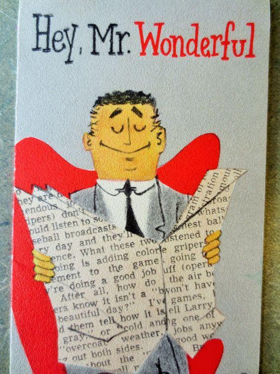 Vintage Midcentury Card Birthday Card Mr Wonderful Man Etsy Birthday Cards For Men Birthday Cards Vintage Birthday