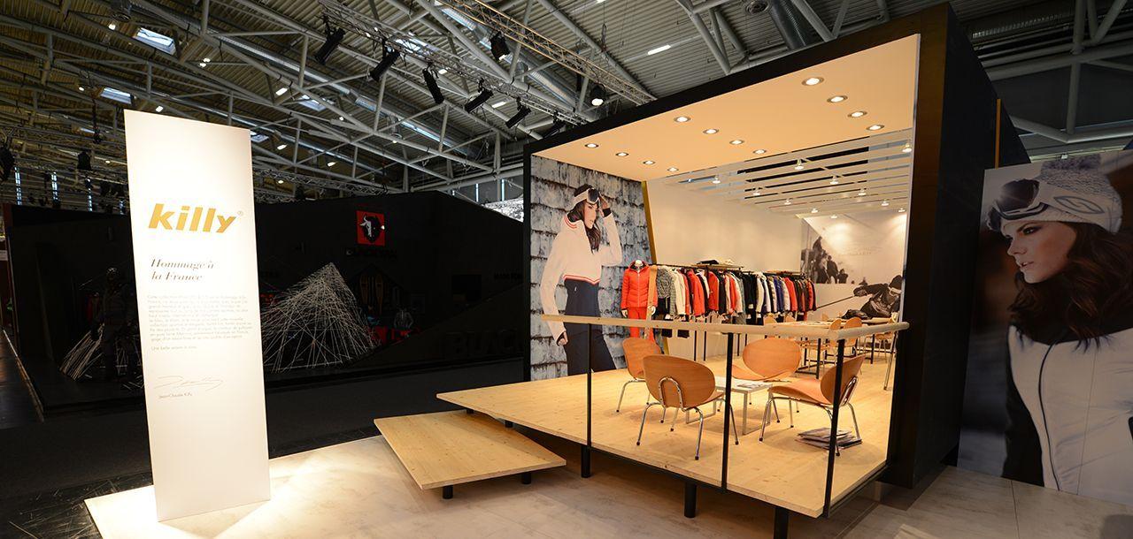 killy stand mobilier commercial agencement de magasin mission exhibition design. Black Bedroom Furniture Sets. Home Design Ideas