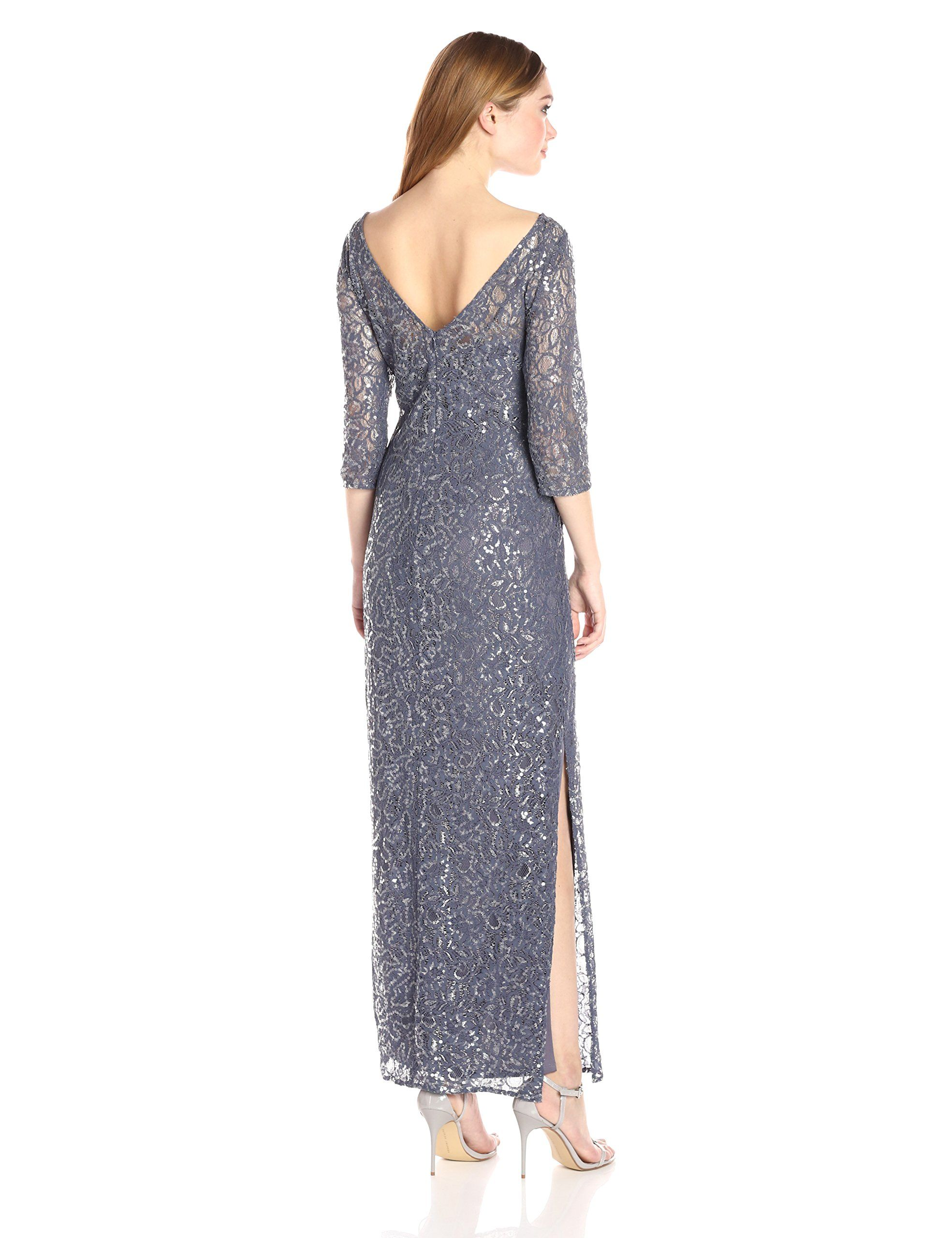 89d8735e16a080 Alex Evenings Womens Lace Illusion Column Dress Heather 14 * Find out more  about the great product at the image link-affiliate link.  #womensformaldresses