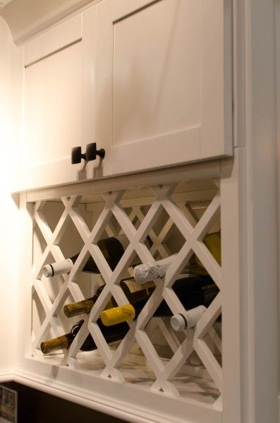 White Shaker Wine Rack Kitchen Cabinet