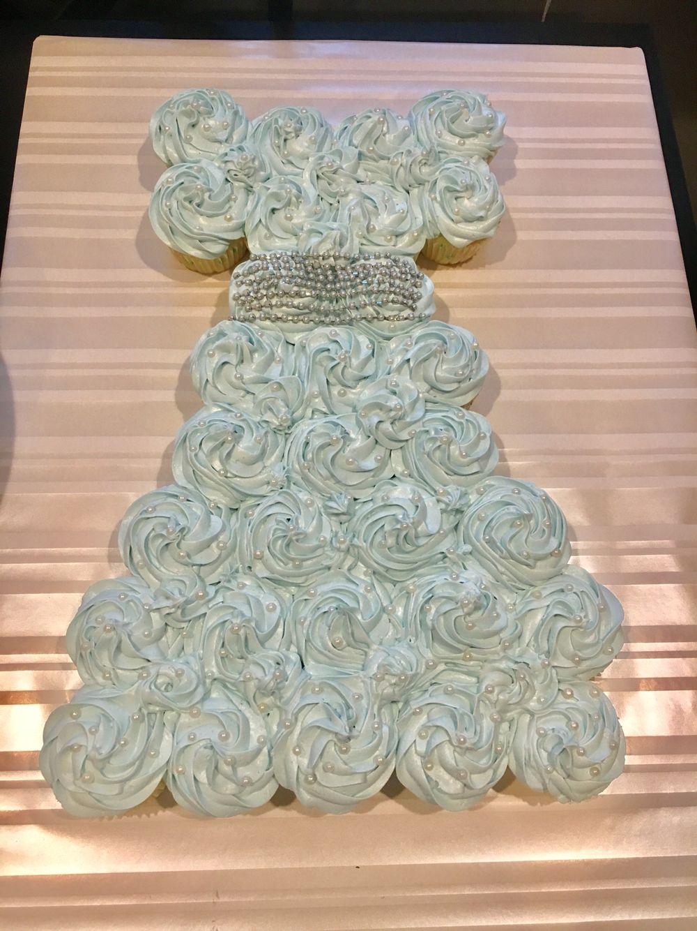 """Something Blue"" Pull Apart Bridal Shower Cake"