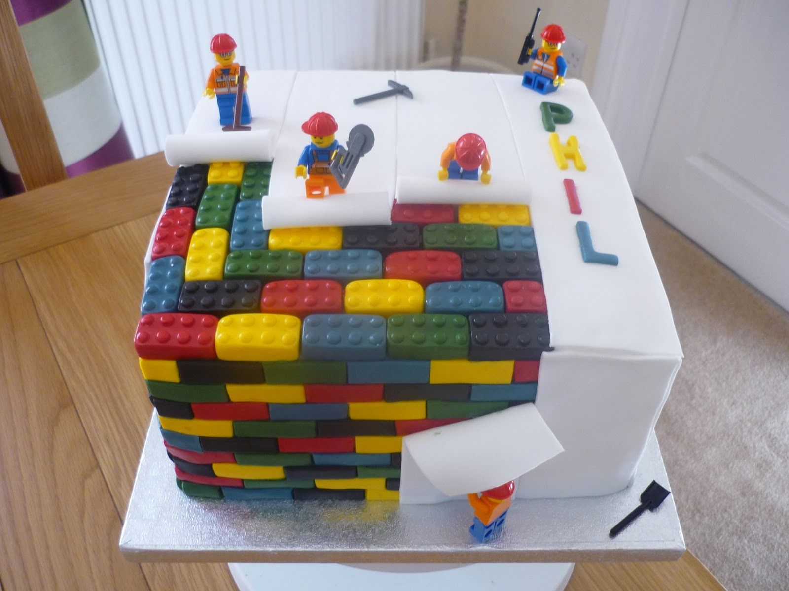 Pin by Michelle Robertson on cake ideas Pinterest Lego man cake