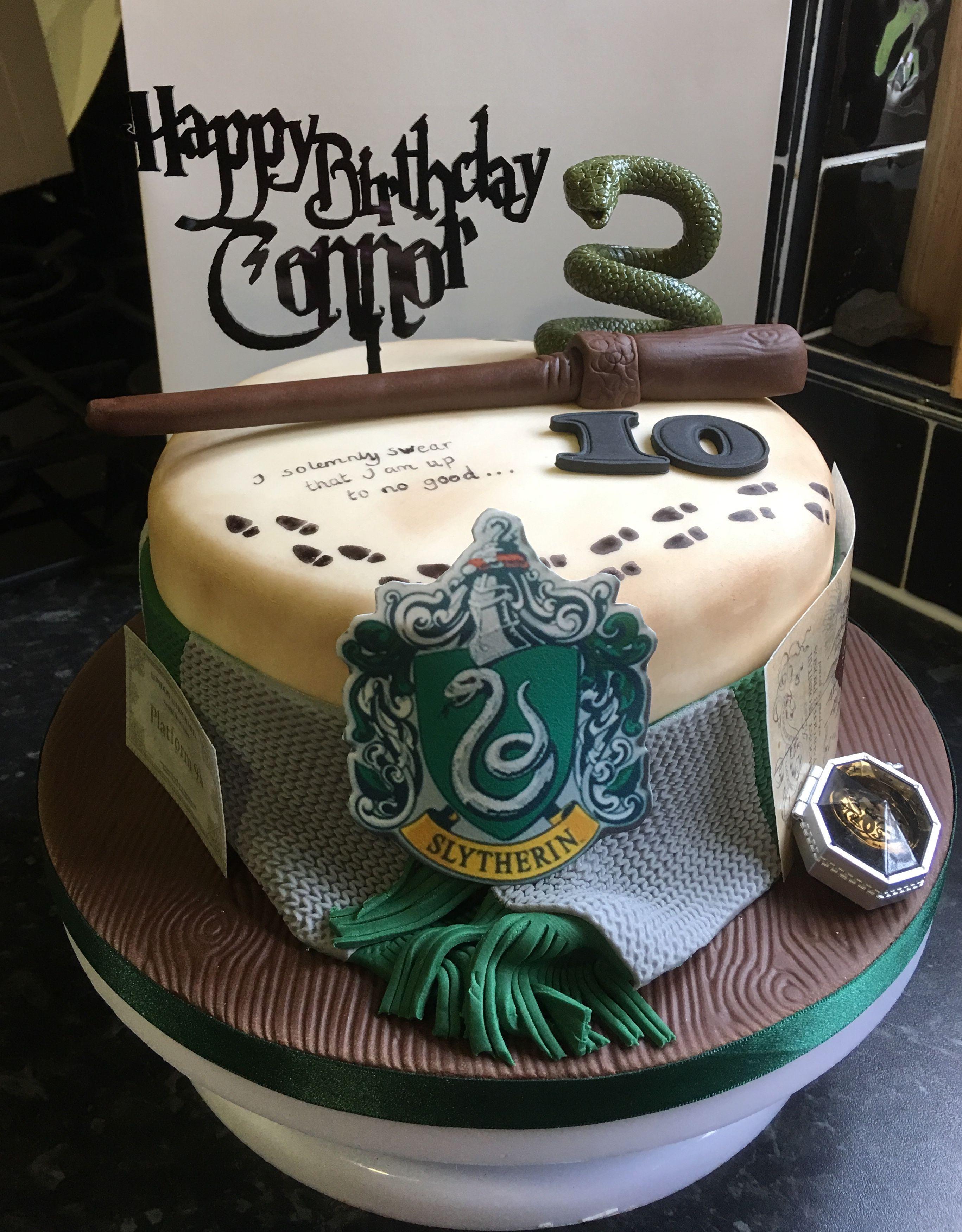 Slytherin Cake Harry Potter Backing Pinterest Harry Potter