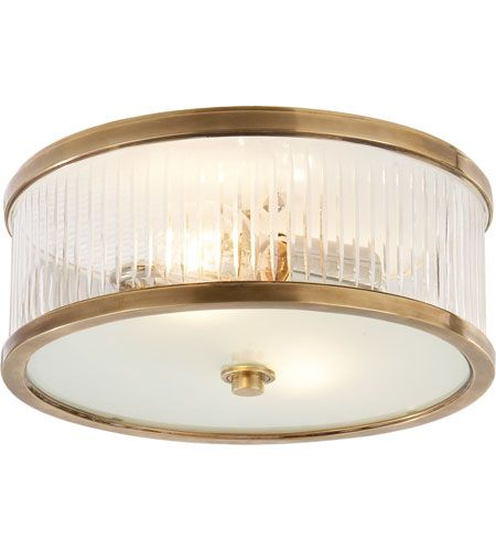 Visual comfort ah4201hab fg alexa hampton randolph 2 light 14 inch visual comfort ah4201hab fg alexa hampton randolph 2 light 14 inch hand rubbed antique brass flush mount ceiling light mozeypictures Images